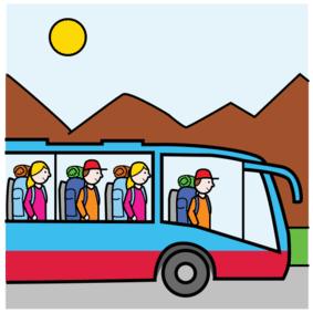 Piktogramm Klassenfahrt